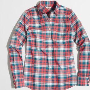 NWT J. Crew Plaid Classic Button-Down Shirt